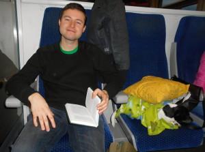 Oddych ve vlaku na trase Praha - Bratislava (v psí společnosti)